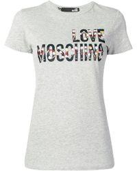 Love Moschino - Printed T-shirt - Lyst