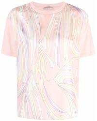 Emilio Pucci スカーフディテール Tシャツ - ピンク