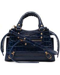 Balenciaga Borsa tote Neo Classic City mini - Blu
