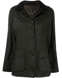 Barbour Вощеная Куртка Beadnell - Зеленый