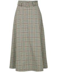 G.v.g.v - Plaid Flared Skirt - Lyst