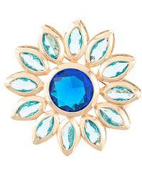 Macgraw Брошь В Виде Цветка - Синий