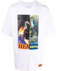 Heron Preston T-shirt Split Light Herons - Blanc