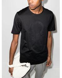 Ferragamo Футболка С Короткими Рукавами И Логотипом - Черный