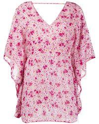Poupette フローラル ドレス - ピンク