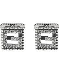 Gucci Gemelli con G Quadro in argento - Metallizzato