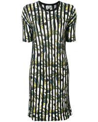 KENZO - Striped Day Dress - Lyst