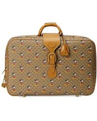 Gucci X Disney GG And Mickey Print Suitcase - Brown