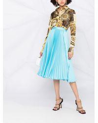 Versace Рубашка С Принтом - Металлик
