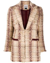 Edward Achour Paris Bouclé Embroidered Tweed Blazer