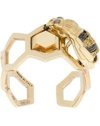 Delfina Delettrez - 9kt Yellow Gold To Bee Or Not To Be Open Ring - Lyst