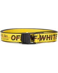 Off-White c/o Virgil Abloh Cinturón Industrial mini - Amarillo