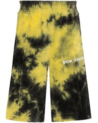 Palm Angels Shorts sportivi con fantasia tie dye - Verde