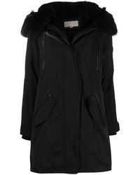 MICHAEL Michael Kors Hooded Parka Coat - Black