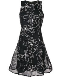 DKNY フローラルディテール ドレス - ブラック