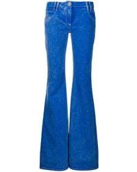 Balmain Low Rise Flared Jeans - Blue