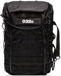 adidas 032c ロゴ バックパック - ブラック