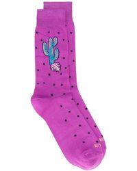 Etro Polka Dot Cactus Socks - Purple