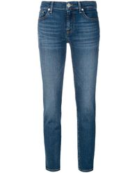7 For All Mankind Skinny-Jeans - Blau