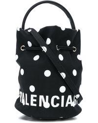 Balenciaga ドット バックル バッグ - ブラック