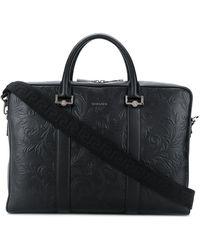 Versace Портфель С Тиснением - Черный