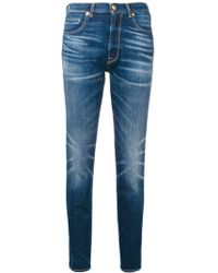 Golden Goose Deluxe Brand Faded Straight Leg Jeans - Blauw