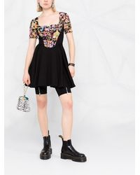Versace Jeans Couture Расклешенное Платье Versailles С Принтом - Черный
