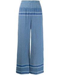 Cecilie Copenhagen Taillenhose mit Mustermix - Blau