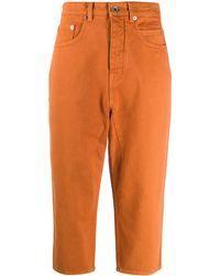 Rick Owens Drkshdw Dropped Crotch Jeans - Orange