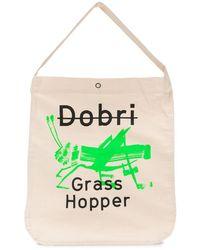 Junya Watanabe Sac cabas en toile x Dobri Grasshopper - Multicolore