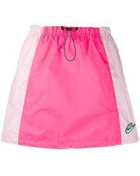 Nike Icon Clash Drawstring Skirt - Pink