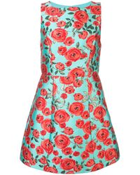 Alice + Olivia Lindsey Floral Print Dress - Blue
