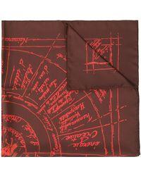 Hermès Pre-owned Sjaal Met Abstracte Print - Rood