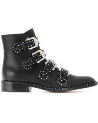 Givenchy Studs Buckled Boots - Zwart