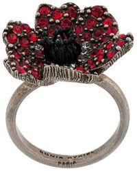 Sonia Rykiel - Embellished Poppy Ring - Lyst