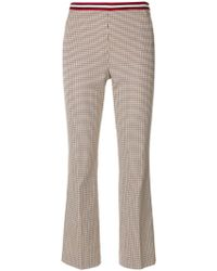 Dorothee Schumacher - Checked Cropped Trousers - Lyst