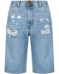 Pinko Shorts al ginocchio - Blu