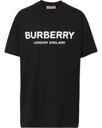 Burberry - ブラック Letchford ロゴ T シャツ - Lyst