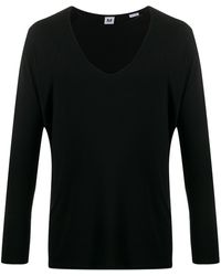 Random Identities プランジネック Tシャツ - ブラック