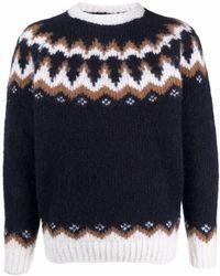 Eleventy フェアアイル セーター - ブルー