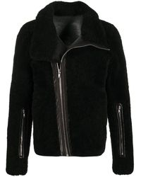 Rick Owens ライダースジャケット - ブラック