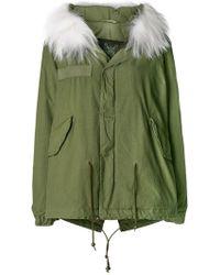 Mr & Mrs Italy - Fur Hood Short Parka Coat - Lyst