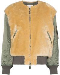 Hyke Faux Shearling Jacket - Green