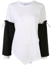 Enfold タイスリーブ ロングtシャツ - ホワイト