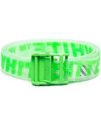 Off-White c/o Virgil Abloh Neon Green Industrial Logo Rubber Belt