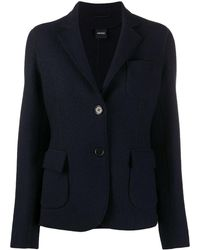 Aspesi Exposed-seam Wool Blazer - Blue