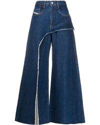 DIESEL Jeans Met Wijde Pijpen - Blauw