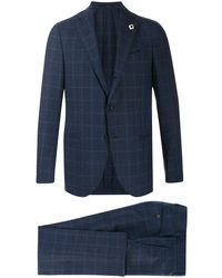 Lardini Chequered Two-piece Suit - Blue