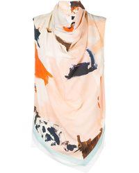 Proenza Schouler Marocaine Printed Sleeveless Top - Pink