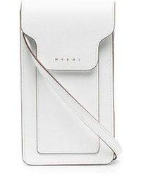 Marni Shoulder-strap Phone Case - White
